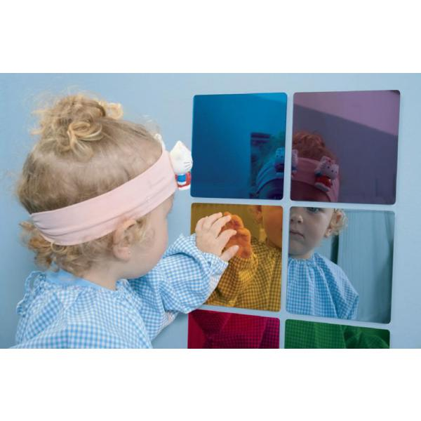 Acrylic coloured mirrors - set of 6