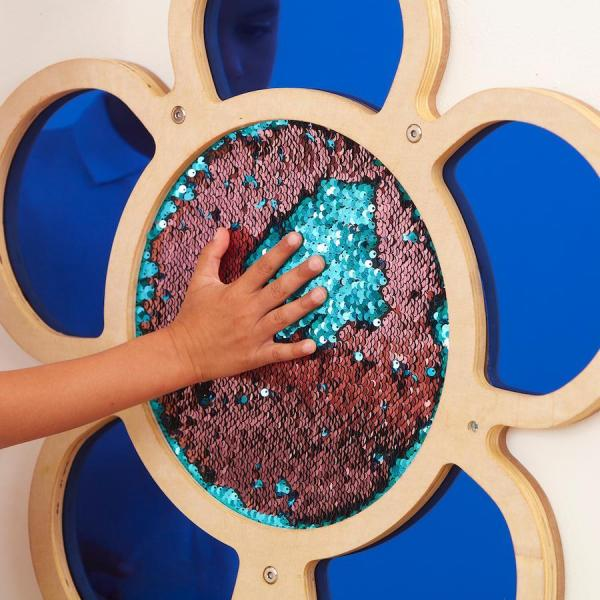 Glitter wall flower - blue