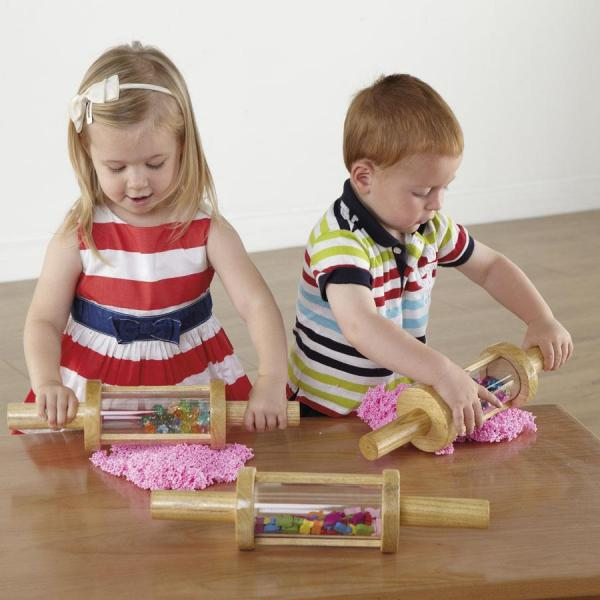 Wooden Treasure Cylinder Rolling - set of 3
