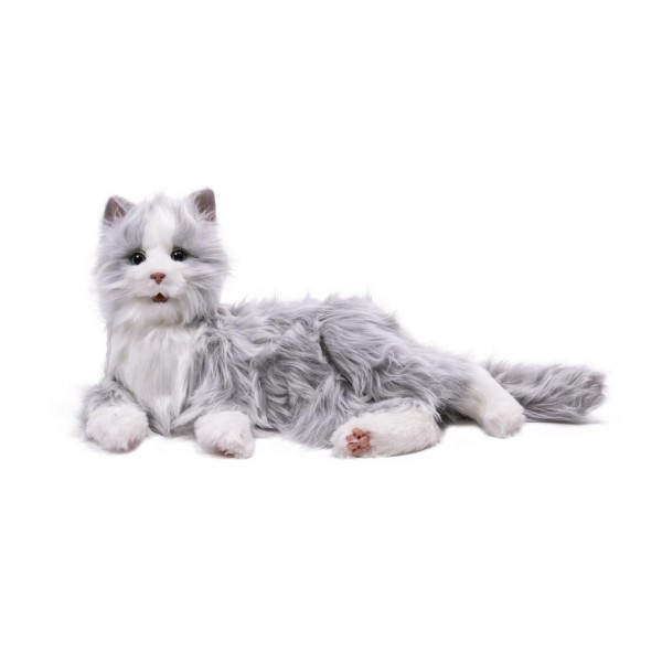Interactive Cat - Silver/White