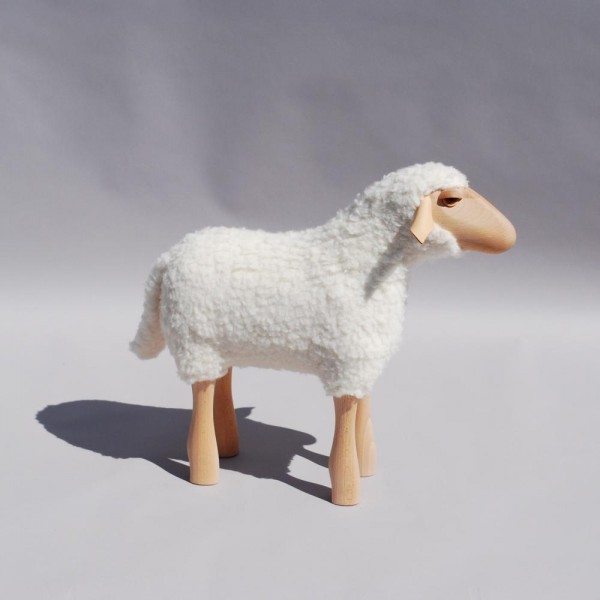 Lamb with wool (short) 45 cm white