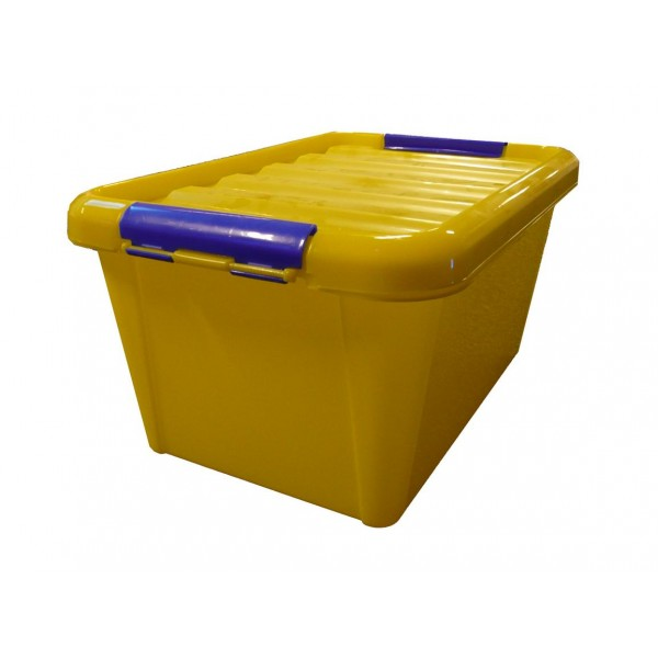 Storage Box with Lid - Yellow (seeing)