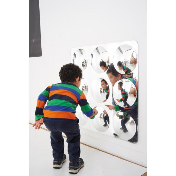 Giant 9-Dome Acrylic Mirror 78cm