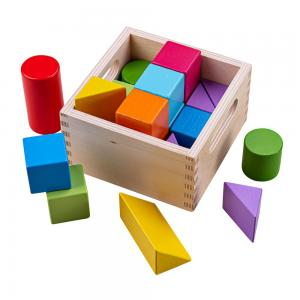 Coloured wooden building blocks