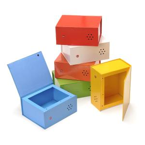 Rainbow Recordable Talking Boxes - set of 6