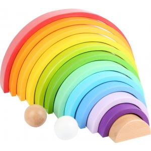 Wooden Building Blocks - Rainbow