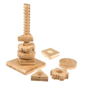 Wooden Twist & Turn Tower