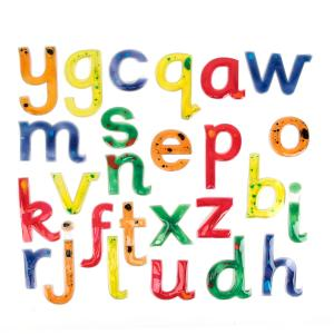 Squidgy Sparkle Gel Lowercase Letters - set of 26
