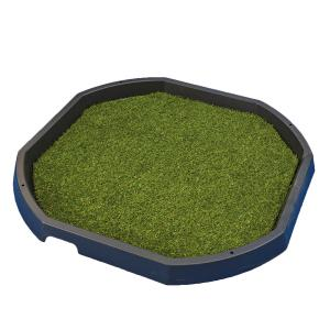 Artificial grass mat activity table tray