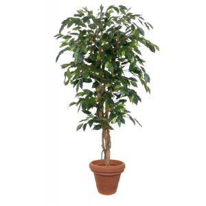 Artificial plant Ficus green - 150 cm high in pot