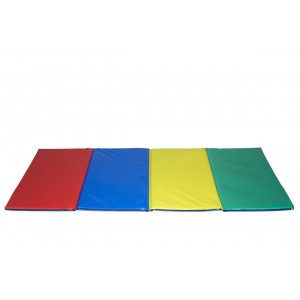Four folding multicoloured mat