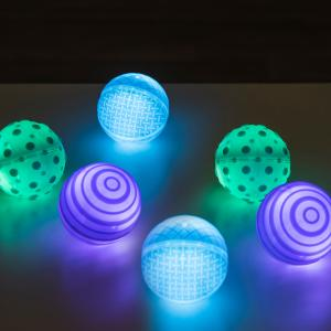 Glowing tactile balls
