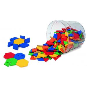 Plastic Pattern blocks - set