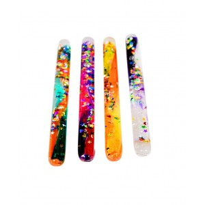 Spiral glitter wands small - set of 4