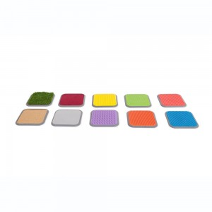 Tactile step tiles - Set of 8