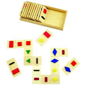 Tactile domino - shapes and colours