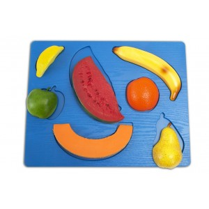 Puzzle Fruits with plastic base