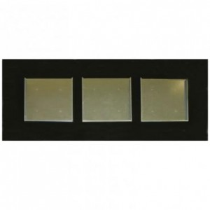 Wooden Frame for 3 Squares - black