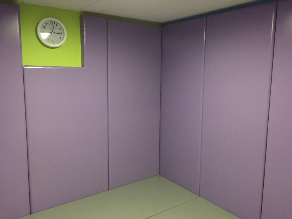 Time-out space in lilac